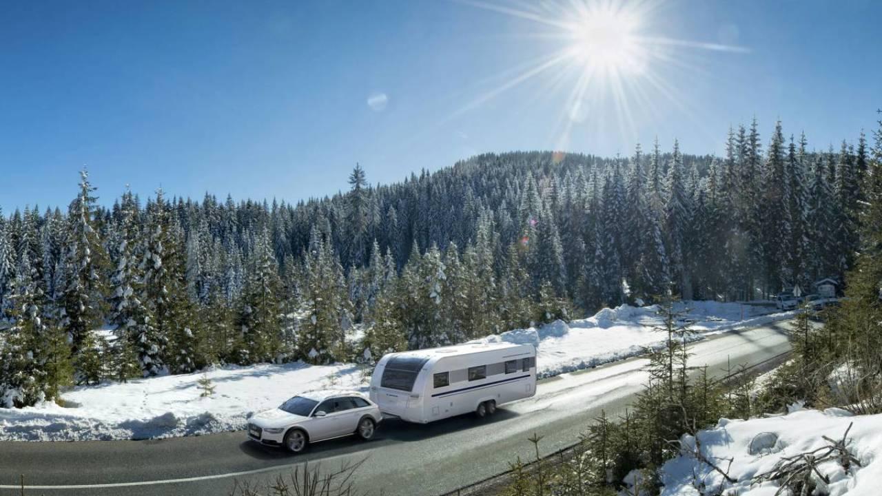 caravana para el invierno.