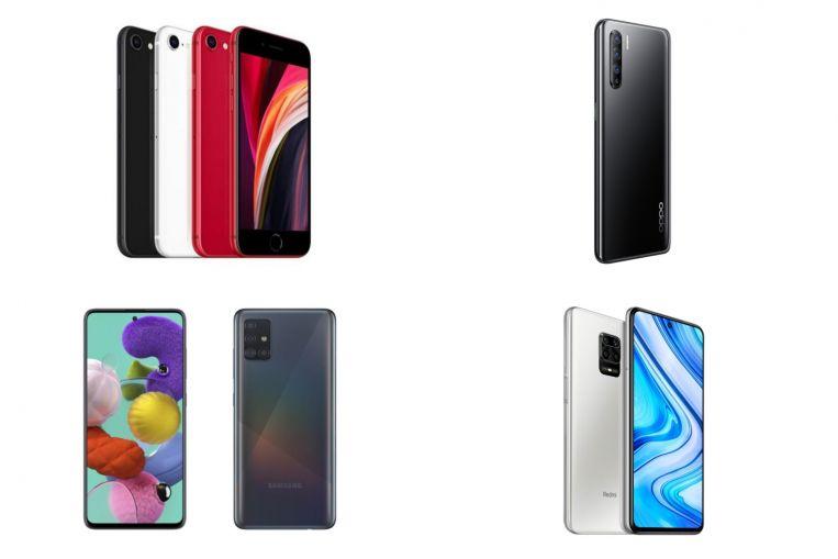 Opciones de teléfonos intermedios: Apple iPhone SE, Oppo Reno3 y más