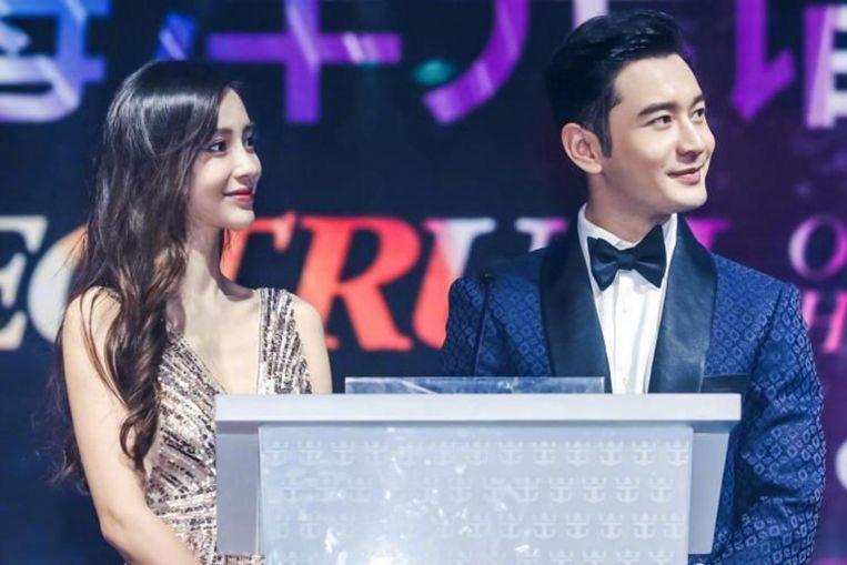La actriz china Angelababy niega ser un tercero en la relación anterior de su esposo Huang Xiaoming