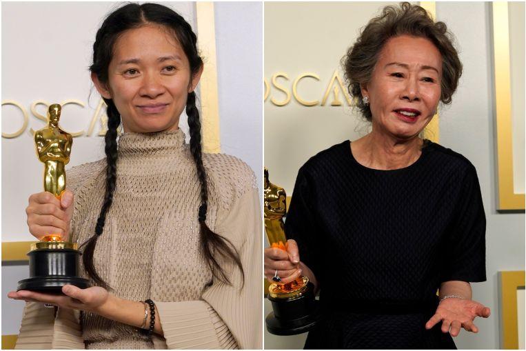 Las asiáticas Chloe Zhao y Youn Yuh-jung hacen historia en los Oscar 2021